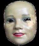 Creepy dollhead PNG STOCK