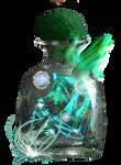 Emerald mountain in glass