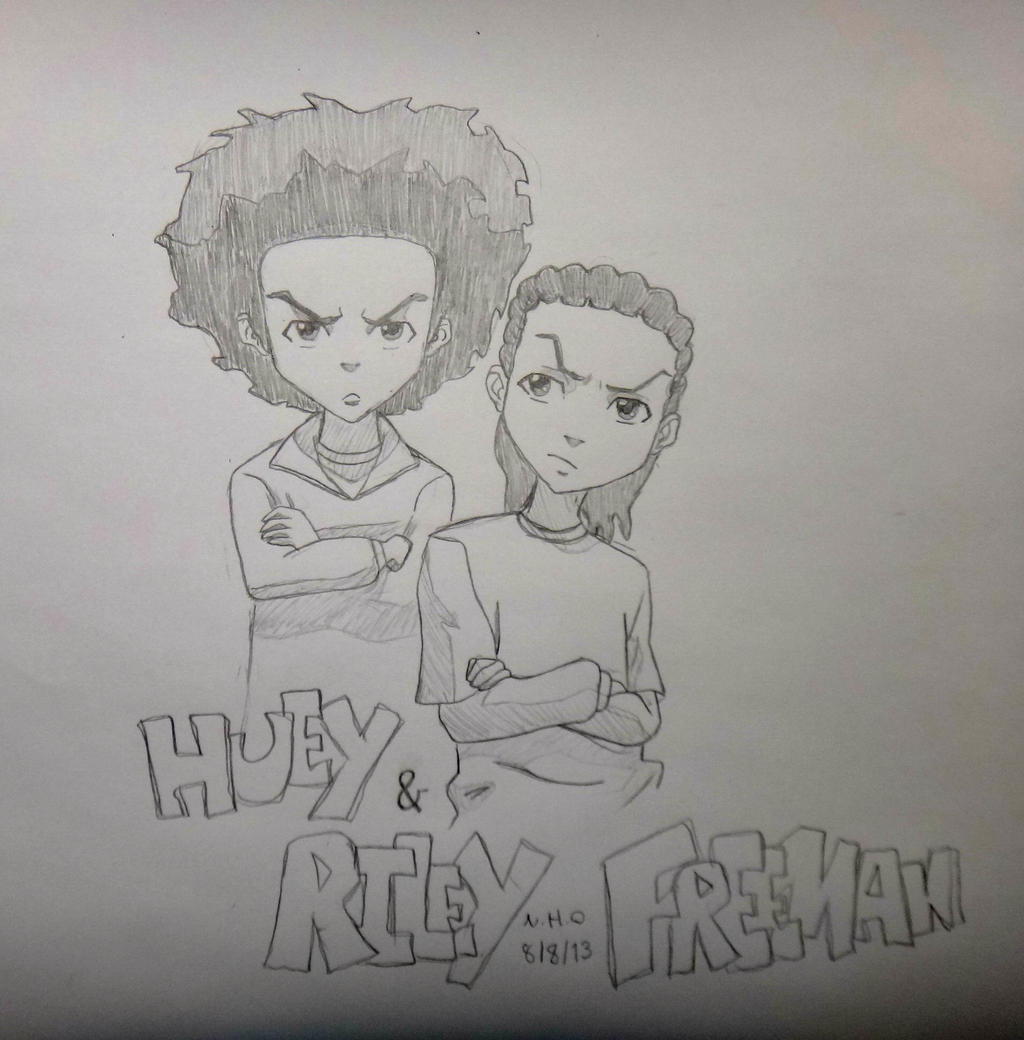 Shmateo Tator besides Graffiti Spray Can Character 583379005 likewise Riley Huey Freeman Hit Dem Folks also Huey And Riley Freeman 392920908 as well Watch. on boondocks coloring pages