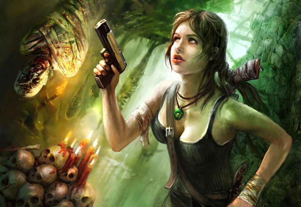Lara Croft Escape by emilus