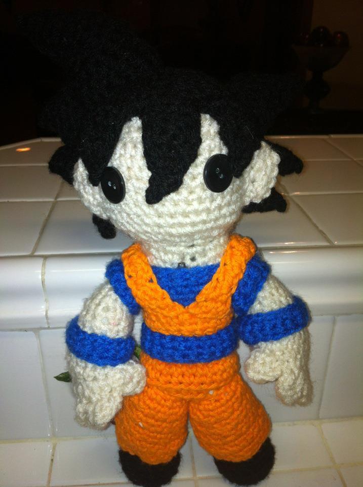 Patrón Son Goku (Dragon Ball) | Sueños Blanditos - Patrones ... | 960x717