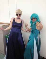 Sailor Uranus and Sailor Neptune thug lyfe by zeemenace