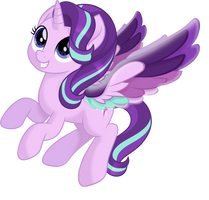 Starlight Glimmer Rainbow Wings (Mlp movie vector) by N0KKUN