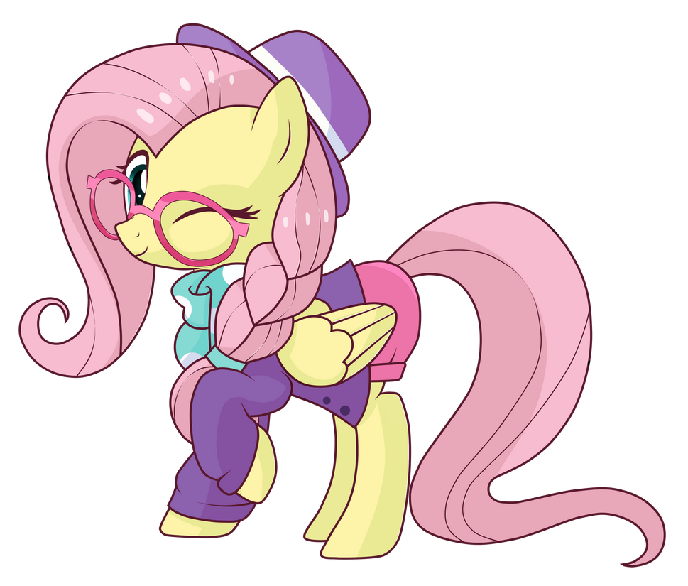 Fluttershy the Hipster