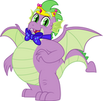 Bowtie Dragon King Spike