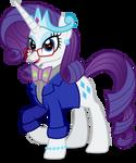 Bowtie Unicorn Queen Rarity