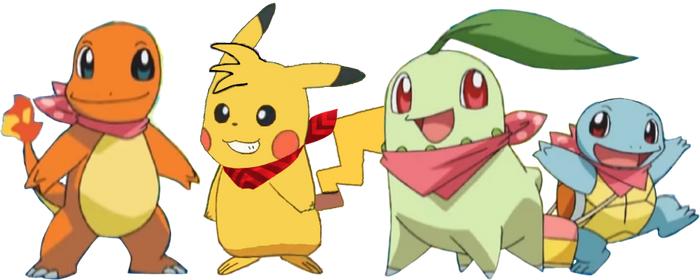 Me as Pikachu red scarf and my Team Go Getters