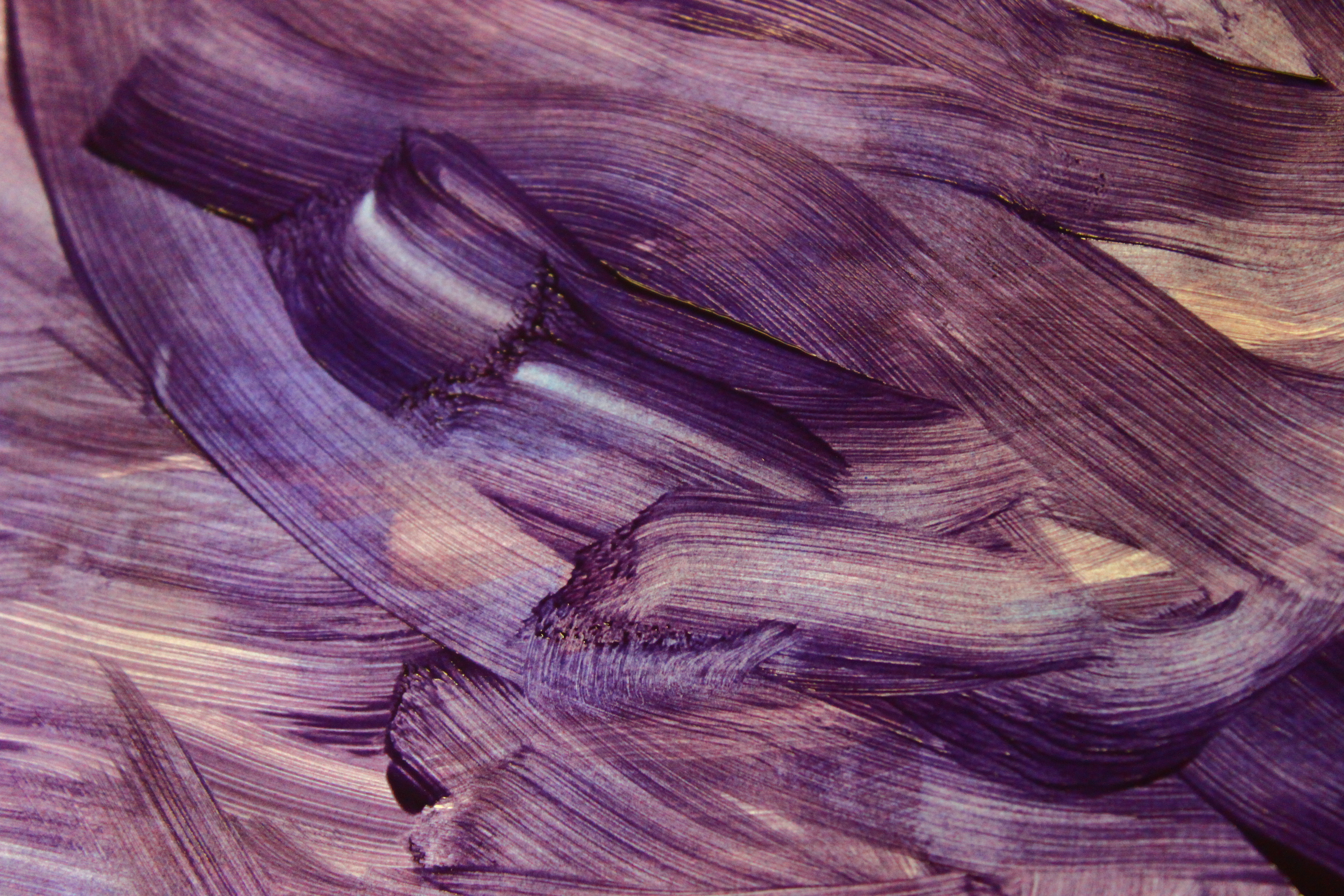 Purple Painted Brush Strokes By ExposeTheBeauty