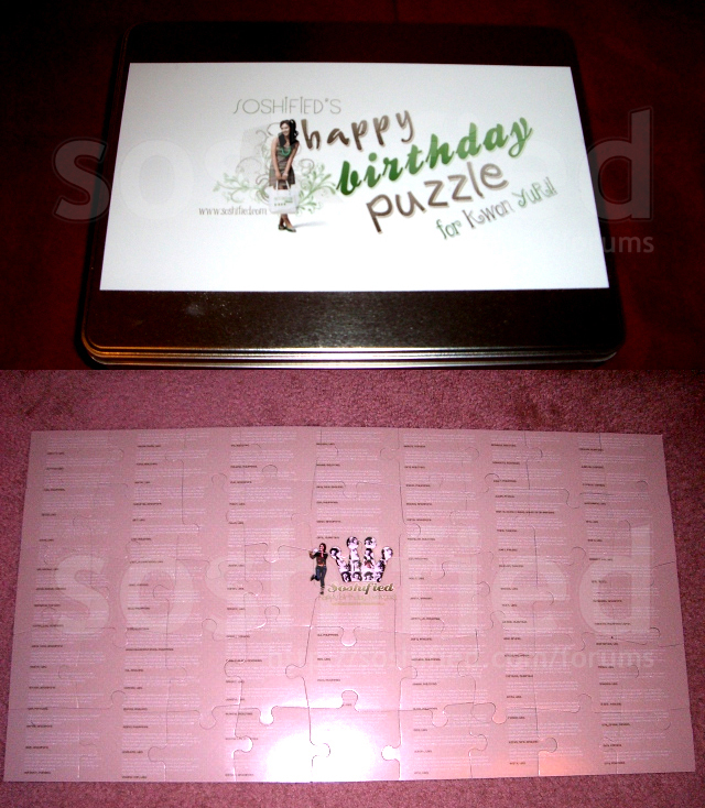 Happy Birthday Puzzle for Yuri by soshified