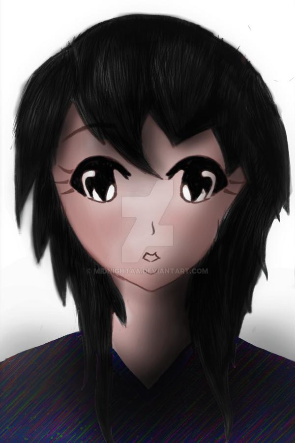 Cute Anime Girl by MidNightAA