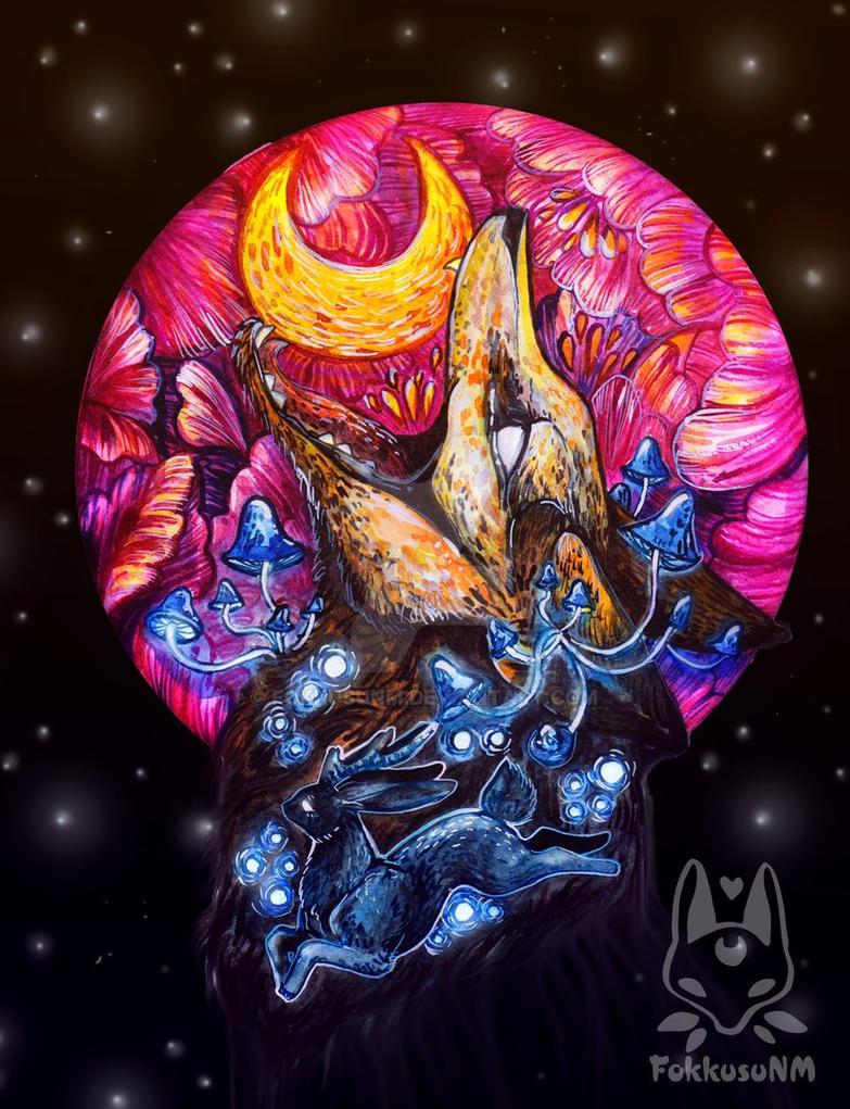 Moon fox by FokkusuNM