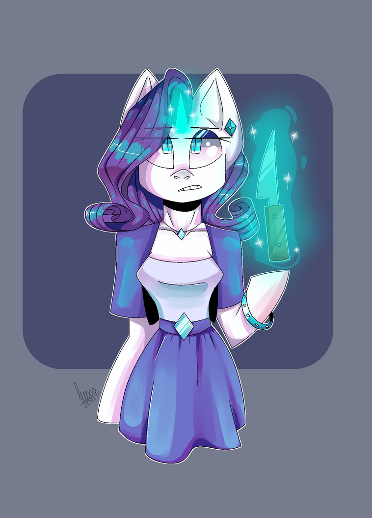 Miss Rarity by Makflari5fly