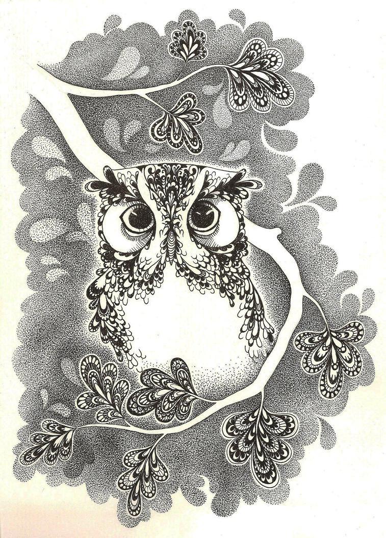 Owl by cake-fiend