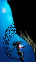 Underwater lara 2 by Mechabadger