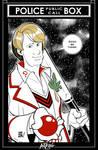 Inktober 5: 5th Doctor by JOSERODMOTA