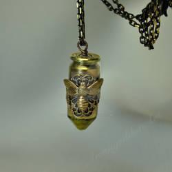 Bumblebee Bullet Shell Pendent by KaleidoscopeEyez