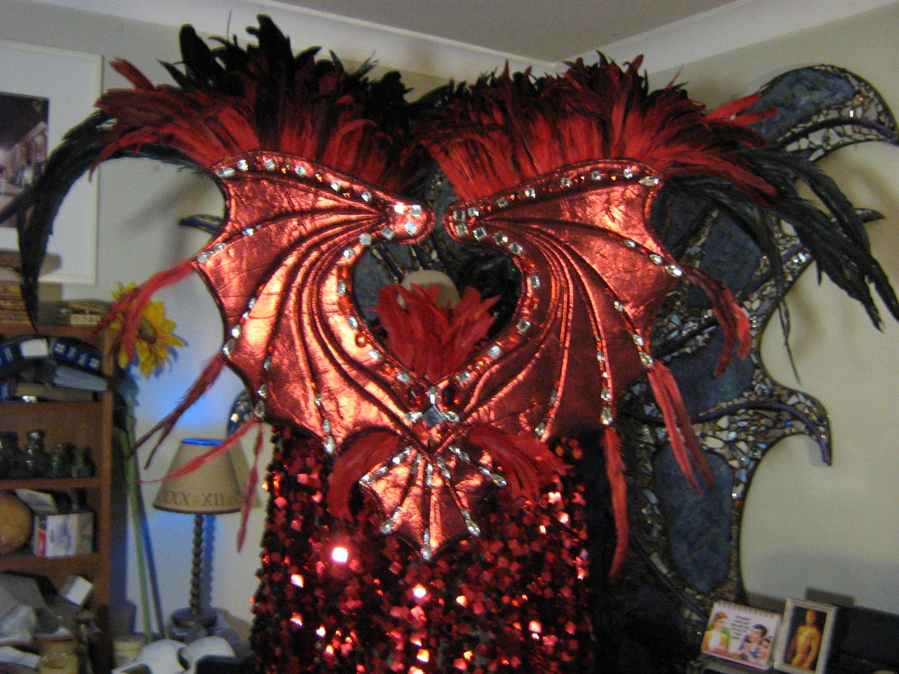 how to make demon wings for costume