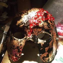 the raspberry mask