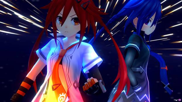 Neptunia-Uzume and Kurome