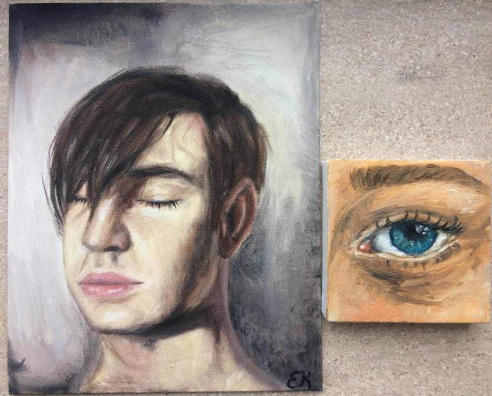 First works with oil-painting  by Emmagro