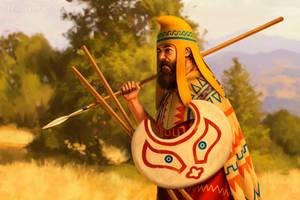 Thracian peltast by JFoliveras
