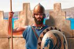 Phoenician infantryman by JFoliveras