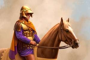 Companion cavalryman by JFoliveras