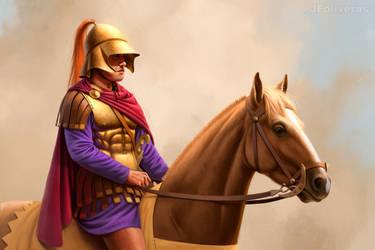Companion cavalryman by JFoliveras
