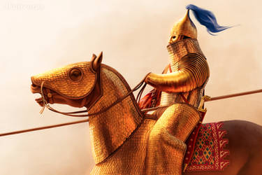 Persian cataphract by JFoliveras