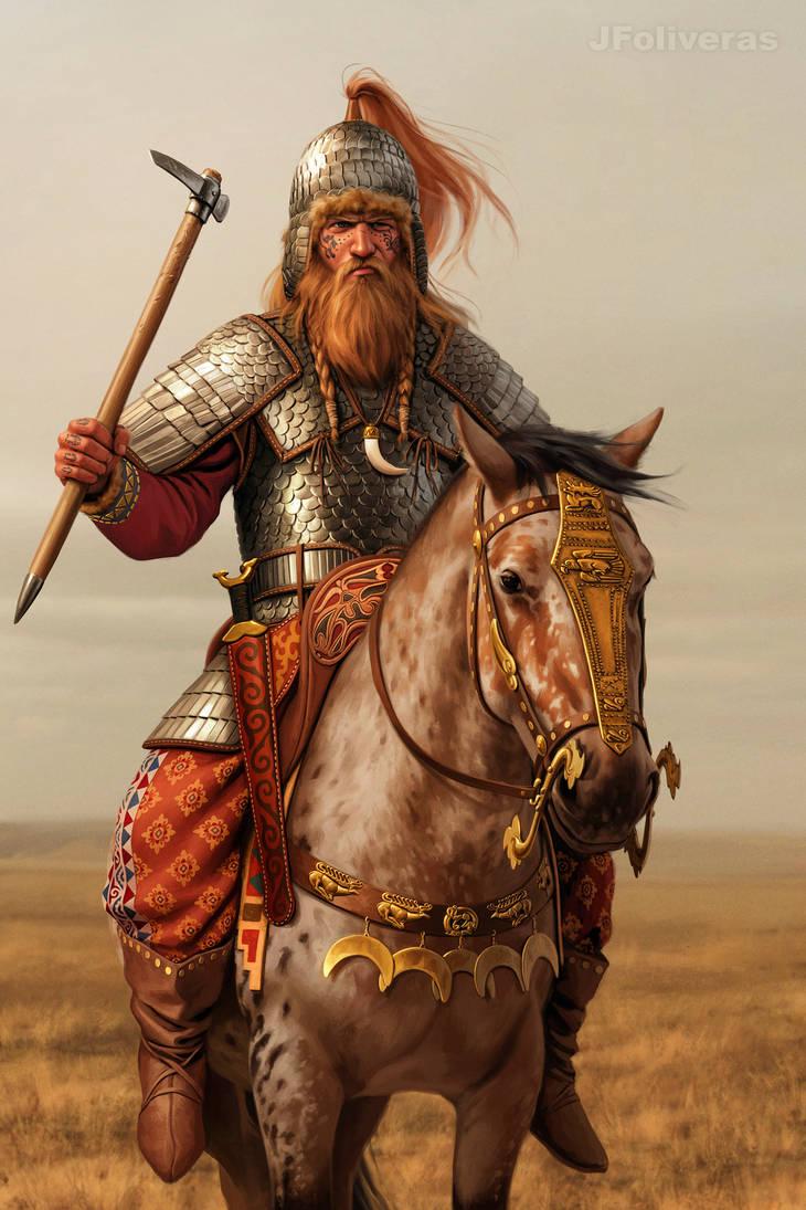 Scyhtian chieftain by JFoliveras