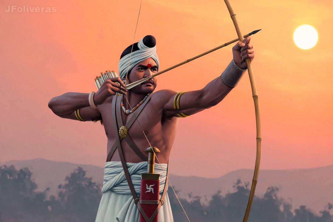 Indian archer by JFoliveras