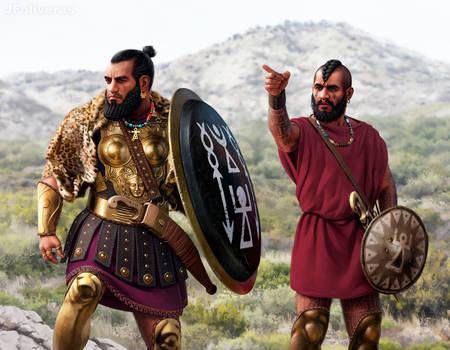 Carthaginian officer and Libyan mercenary