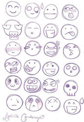 Chibi Facial Expressions by HeyIzzy11