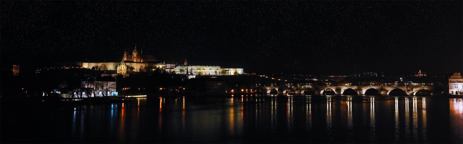 Night Prague by Holowood