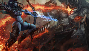 Heroes Of The Storm (Sylvanas vs Azmodan)