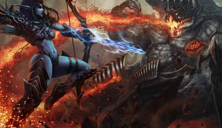 Heroes Of The Storm (Sylvanas vs Azmodan) by Deeedge