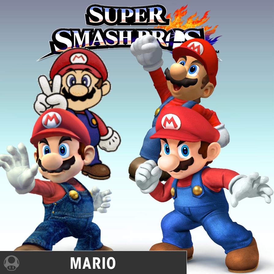 Super Smash Bros Mario By BatNight768