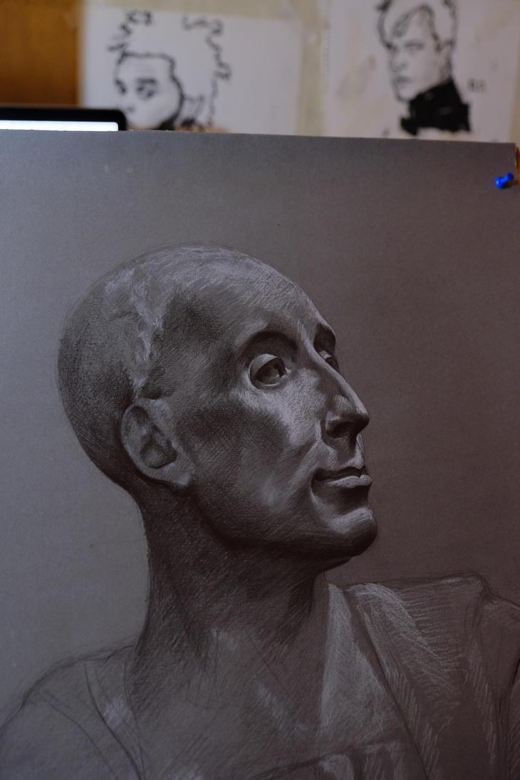head study drawing by ilmyart