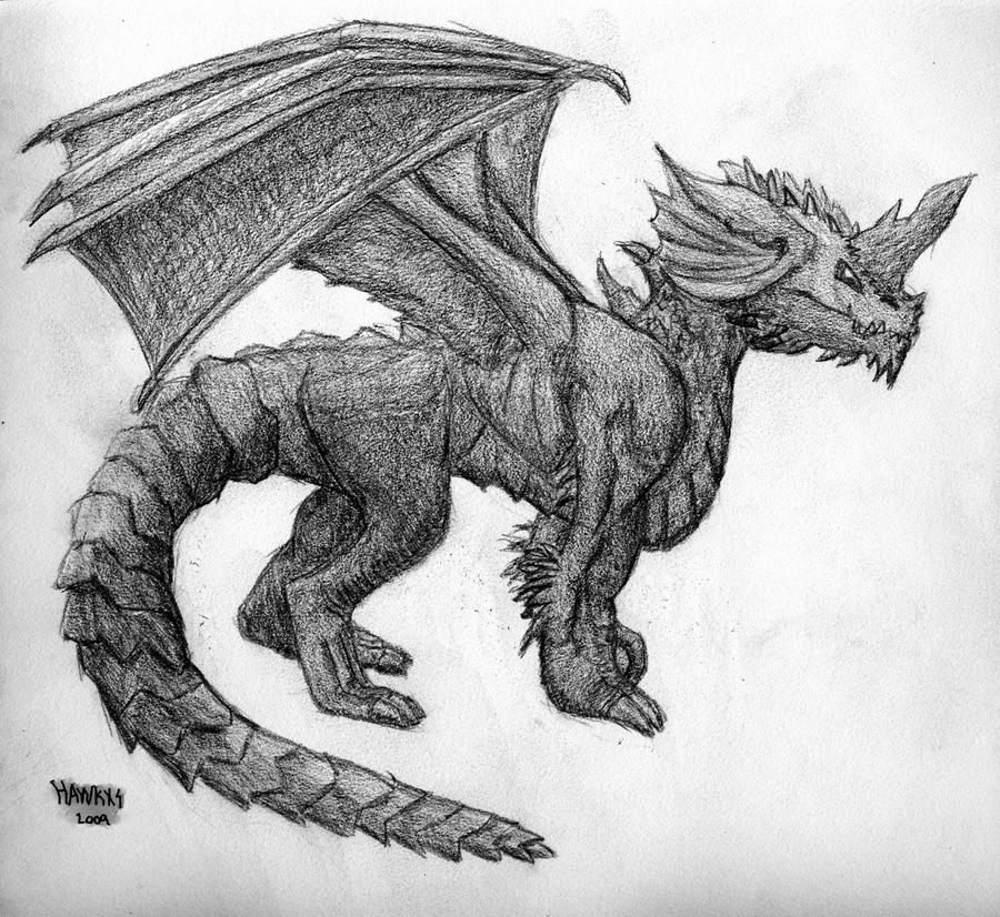 Blue Dragon Adult by hawkxs