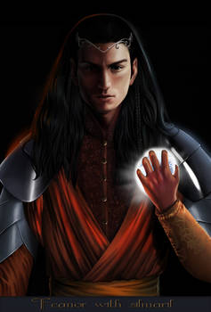 Feanor with silmaril