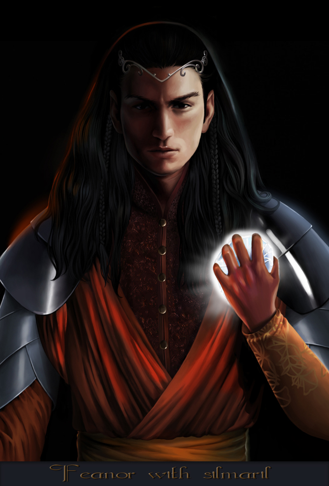 Feanor with silmaril by steamey