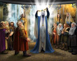 Elu Thingol and the Dwarves of Nogrod in Menegroth