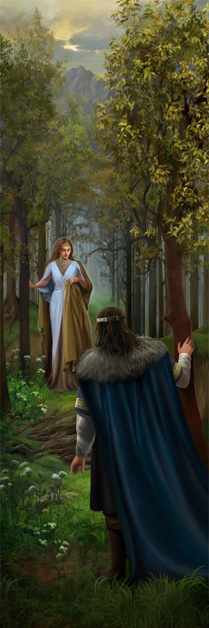 A silvan elf Mithrellas and Imrazor the Numenorean by steamey