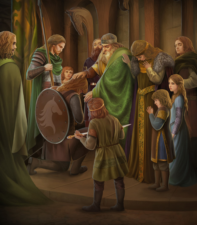 King Folcwine says goodbye to his sons