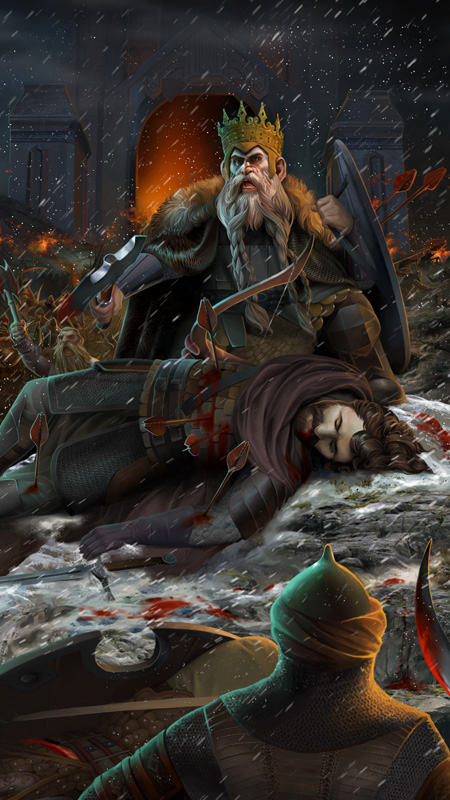 King Brand and King Dain Ironfoot by steamey