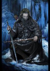 Geralt in a vision of Ciri