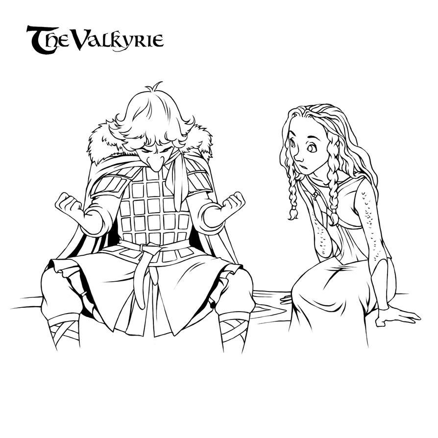 The Valkyrie.Rannveig and Dyarvi by steamey