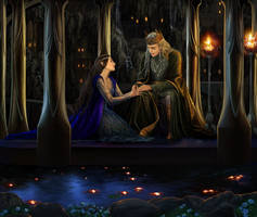 Thingol and Luthien by steamey