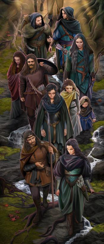 Men met Dark Elves by steamey