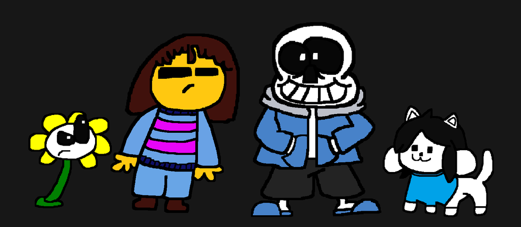 Horrible looking UnderTale fanart by Waltman13